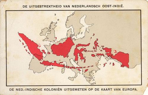 De uitgestrektheid van Nederlandsch Oost-Indie